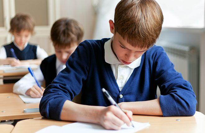 Школьник на последнем экзамене