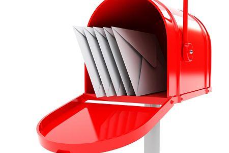 Письма в почтовом ящике