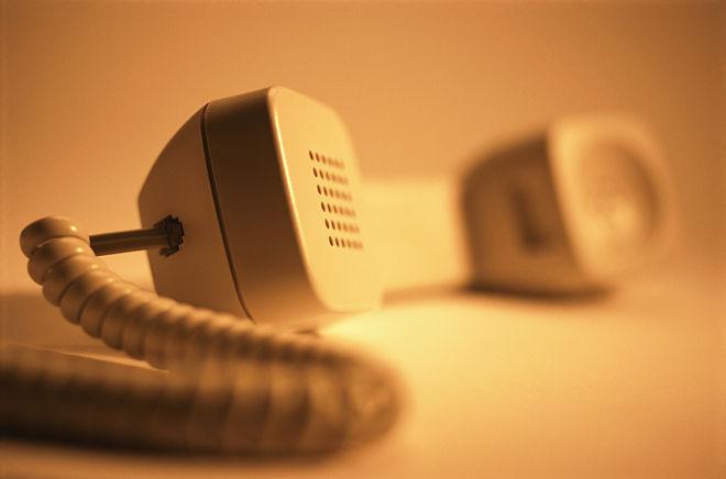 снятая телефонная трубка